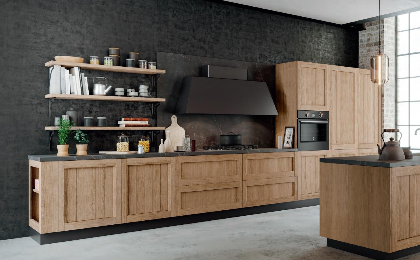 Cucina anta telaio brandy home design arredamenti for Arredamenti romanoni srl pavia
